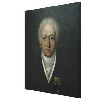 Portrait of Goethe, 1816 Canvas Print