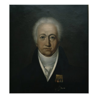 Portrait of Goethe, 1816 Poster
