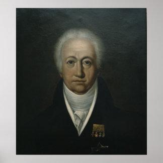 Portrait of Goethe, 1816 Print