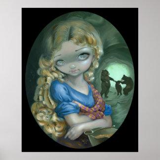 Portrait of Goldilocks ART PRINT Bear Dance