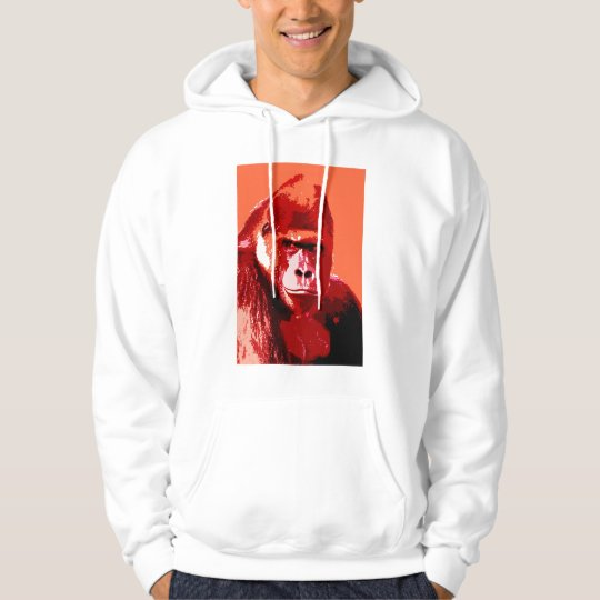 Portrait of Gorilla Hoodie Shirt
