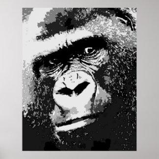 Portrait of Gorilla Poster Print