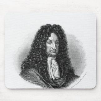 Portrait of Gottfried Wilhelm  Baron de Leibniz Mouse Pad