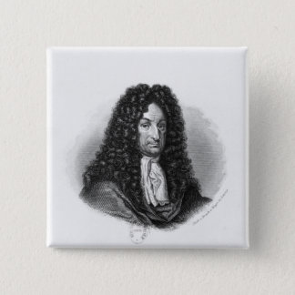 Portrait of Gottfried Wilhelm  Baron de Leibniz Pinback Button