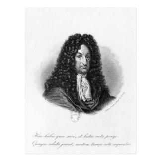 Portrait of Gottfried Wilhelm  Baron de Leibniz Postcard