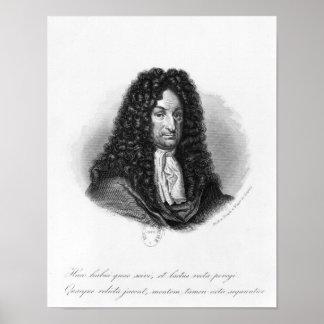 Portrait of Gottfried Wilhelm  Baron de Leibniz Poster