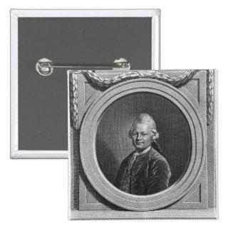 Portrait of Gotthold Ephraim Lessing Button