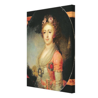 Portrait of Grand Duchess Alexandra, c.1798 Canvas Print