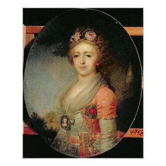 Portrait of Grand Duchess Alexandra, c.1798 Poster