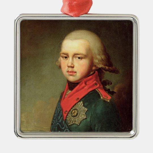 Portrait of Grand Duke Konstantin Pavlovich Metal Ornament