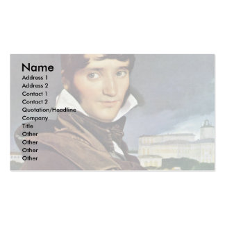 Portrait Of Granet By Ingres Jean Auguste Dominiqu Business Cards