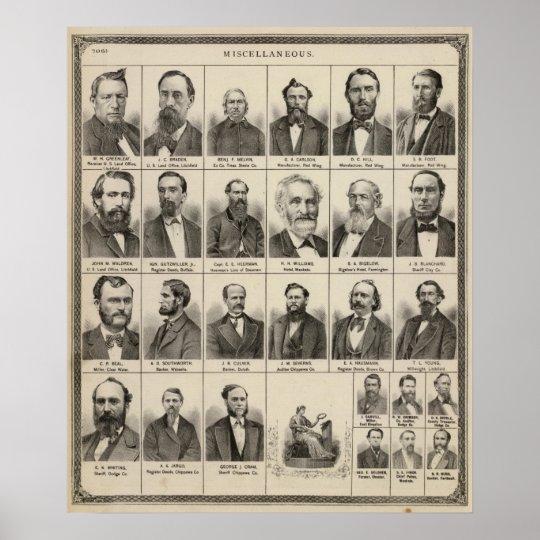 Portrait of Greenleaf, Minnesota Poster
