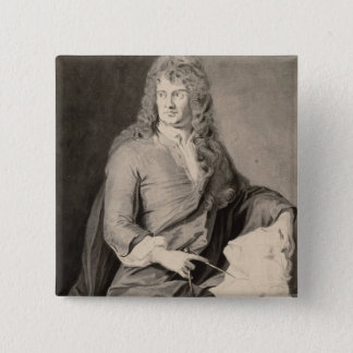 Portrait of Grinling Gibbons (1648-1721) (w/c on p Button