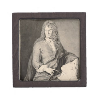 Portrait of Grinling Gibbons (1648-1721) (w/c on p Jewelry Box