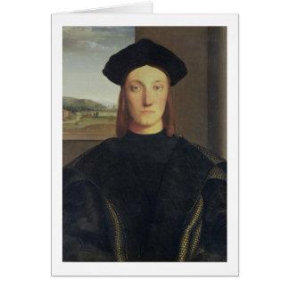 Portrait of Guidobaldo da Montefeltro, Duke of Urb Card