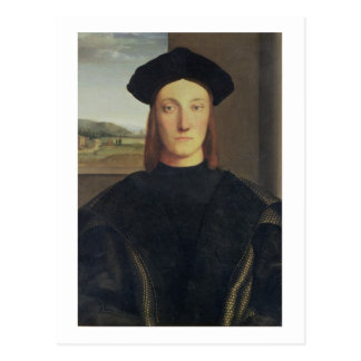 Portrait of Guidobaldo da Montefeltro, Duke of Urb Postcard
