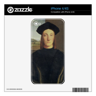 Portrait of Guidobaldo da Montefeltro, Duke of Urb Skin For iPhone 4S