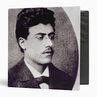 Portrait of Gustav Mahler, 1878 3 Ring Binder