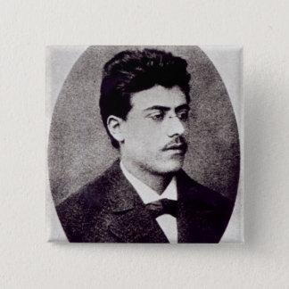 Portrait of Gustav Mahler, 1878 Pinback Button