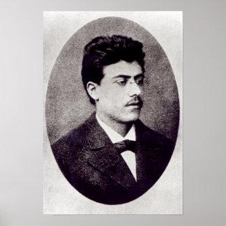 Portrait of Gustav Mahler, 1878 Poster