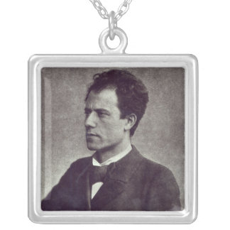 Portrait of Gustav Mahler, 1897 Silver Plated Necklace