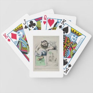 Portrait of Gustave Courbet (1819-77) illustration Bicycle Playing Cards