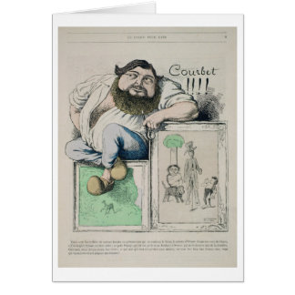 Portrait of Gustave Courbet (1819-77) illustration Card