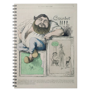 Portrait of Gustave Courbet (1819-77) illustration Spiral Note Books