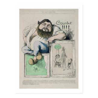 Portrait of Gustave Courbet (1819-77) illustration Postcard