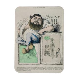Portrait of Gustave Courbet (1819-77) illustration Rectangular Photo Magnet