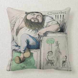 Portrait of Gustave Courbet (1819-77) illustration Throw Pillow