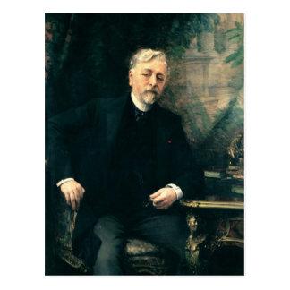 Portrait of Gustave Eiffel  1905 Postcard