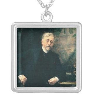 Portrait of Gustave Eiffel  1905 Square Pendant Necklace