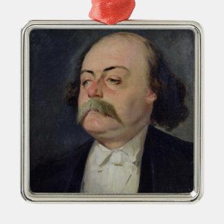Portrait of Gustave Flaubert  1868-81 Metal Ornament