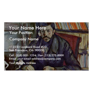 Portrait Of Gustave Geffroy By Paul Cézanne (Best Double-Sided Standard Business Cards (Pack Of 100)