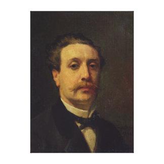 Portrait of Guy de Maupassant  1876 Canvas Print