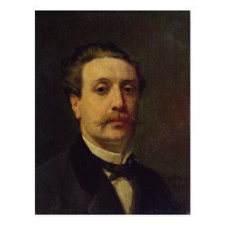 Portrait of Guy de Maupassant  1876 Postcard
