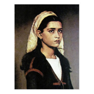 Portrait of gypsy girl postcard