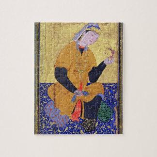 Portrait of Hamida Banu Begum, holding a seal, ill Jigsaw Puzzle