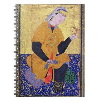 Portrait of Hamida Banu Begum, holding a seal, ill Notebook