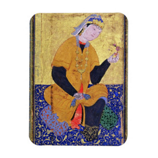 Portrait of Hamida Banu Begum, holding a seal, ill Rectangular Photo Magnet