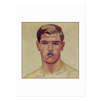 Portrait of Hans Adam by Amiet Post Card