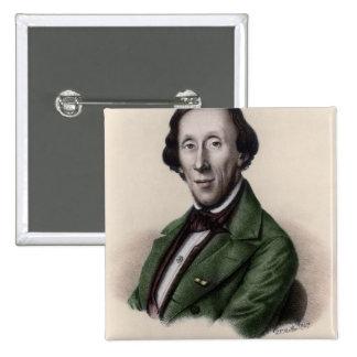 Portrait of Hans Christian Andersen 2 Inch Square Button