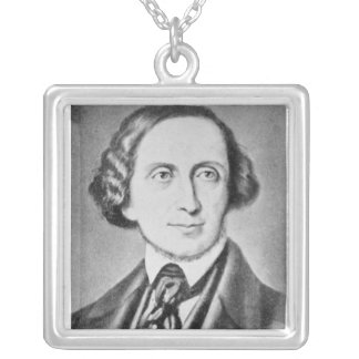 Portrait of Hans Christian Andersen 2 Silver Plated Necklace