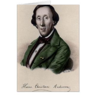Portrait of Hans Christian Andersen Greeting Card