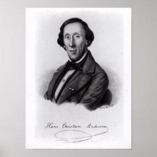 Portrait of Hans Christian Andersen Poster