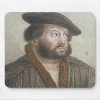Portrait of Hans Holbein (1497/8-1543) engraved by Mouse Pad