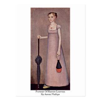 Portrait Of Harriet Leavens By Ammi Phillips Postcard