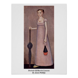 Portrait Of Harriet Leavens By Ammi Phillips Poster