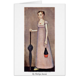 Portrait Of Harriet Leavens By Phillips Ammi Greeting Card
